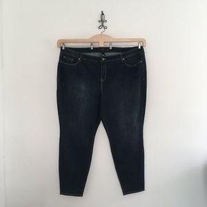 Torrid Dark Blue Curvy Skinny Jeans Plus Size 30 T